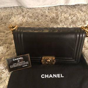 Chanel Flap Boy Medium Calfskin Reverso Bag
